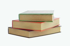 Three books stacked Royalty Free Stock Photography