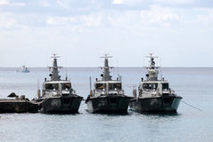 Three border patrol boats Royalty Free Stock Photo