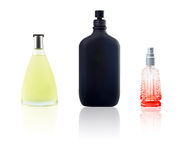 Three bottle of perfum Royalty Free Stock Images