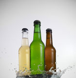 Three Bottles Royalty Free Stock Photos