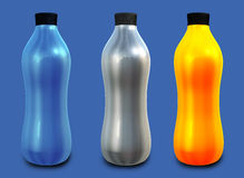 Three Bottles Stock Image