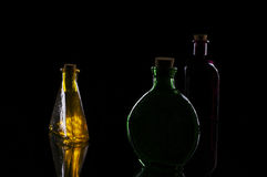 Three bottles arrangement Royalty Free Stock Photo