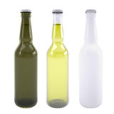 Three bottles of beer Stock Photos