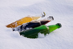 Three bottles of beer Royalty Free Stock Photography