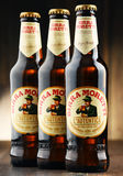 Three bottles of Birra Moretti Royalty Free Stock Photography