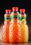 Three bottles of Granini fruit juices Royalty Free Stock Image