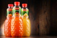 Three bottles of Granini fruit juices Stock Photo