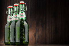 Three bottles of Grolsch beer Stock Photo