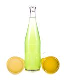 Three bottles of lemonade. On white background Stock Image