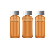Three bottles of medicine Royalty Free Stock Photography
