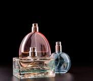 Three bottles of perfumes Stock Image