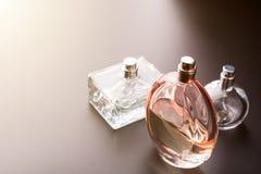 Three bottles of perfumes Stock Photography