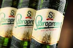 Three bottles of Staropramen beer Stock Photography