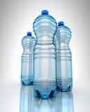 Three bottles of water Royalty Free Stock Photos