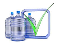 Three bottles with  water Stock Photography
