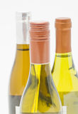 Three bottles of white wine Royalty Free Stock Images