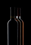 Three bottles of wine Royalty Free Stock Images