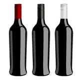 Three bottles of wine  vector Stock Image