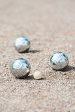 Three boule balls Stock Photo