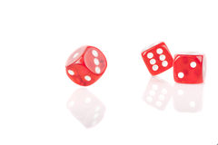 Three Bouncing Dice Royalty Free Stock Photography