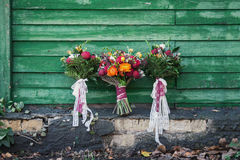 Three bouquet royalty free stock image