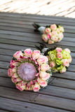 Three bouquets in a row Stock Photography