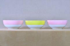 Three bowl Royalty Free Stock Photo