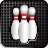 Three bowling pins. Close up picture of three bowling pins Stock Photos