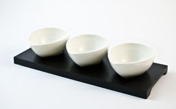 Three Bowls. On a white background Stock Photography