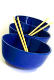 bowls and chopsticks  Royalty Free Stock Images