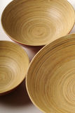Three bowls in circle. Closeup with isolated  kitchen equipment Stock Photography