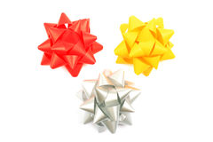 Three bows. Royalty Free Stock Photo