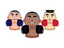 Three boxer icons Royalty Free Stock Photography