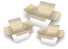 Three boxes Stock Photo
