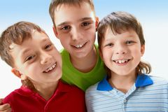 Three boys Royalty Free Stock Images