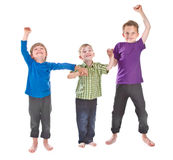 Three boys having fun Royalty Free Stock Photography