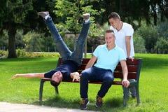 Three boys Stock Photo