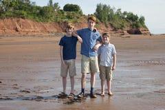 Three boys in summertime Stock Photo