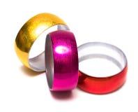 Three bracelets isolated Stock Photo