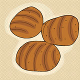 Three Bread Loaves Stock Photo