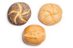 Three bread rolls,  cutout Stock Image