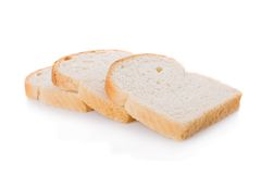 Three bread slices Royalty Free Stock Image