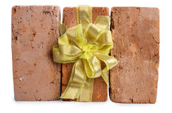 Three brick as a gift Stock Photography