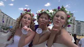 Three of the Bride stock video