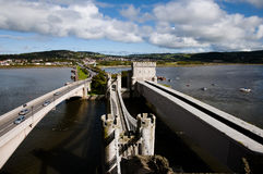 Three Bridges of Conwy - Wales - UK Stock Images