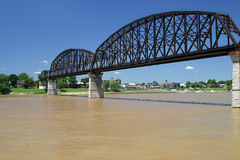 Three Bridges Spanning Ohio River Stock Photo