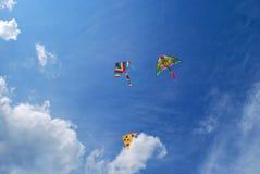Three bright kite Royalty Free Stock Photo