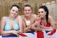 Three British young people Stock Image