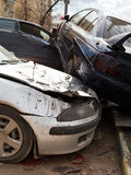 Three broken cars during road accident Royalty Free Stock Images