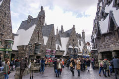 Three Broomsticks. Tavern in Hogsmeade in The Wizarding World of Harry Potter Zone at Universal Studios Japan Royalty Free Stock Images
